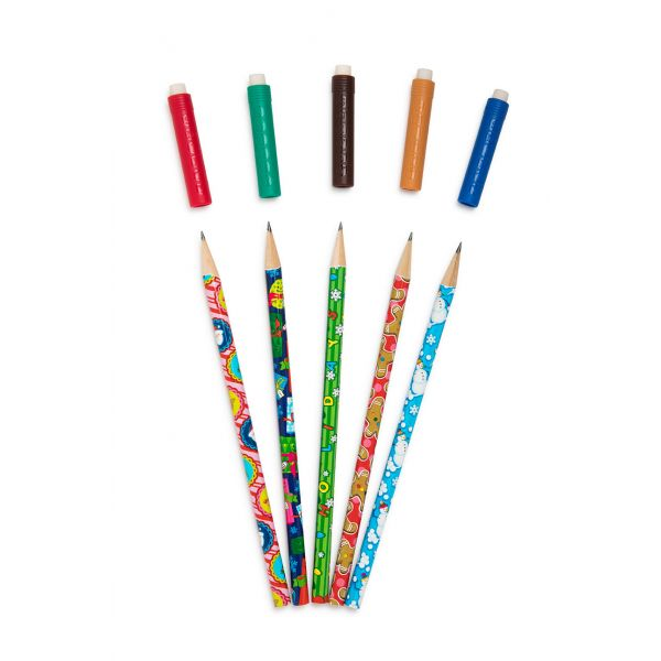 Holiday themed scented pencil topper fan