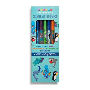 Scented Pencil Toppers on Aquarium Themed #2 Pencil 5 Pack