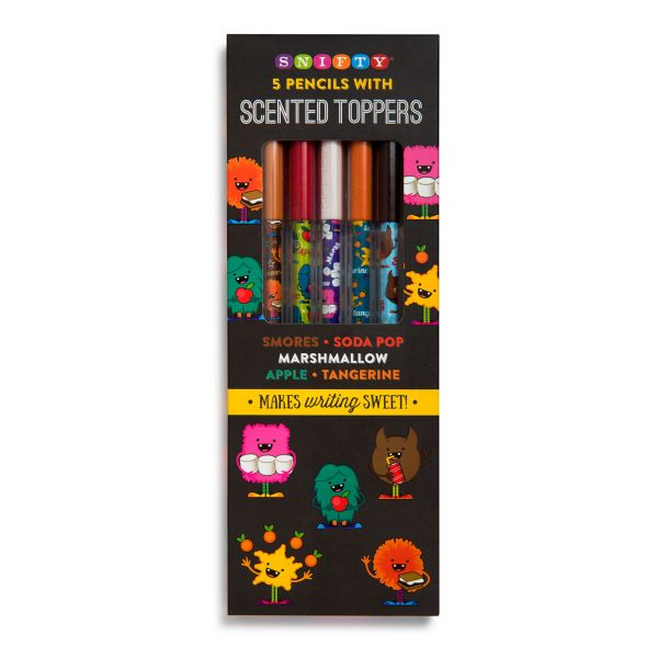 Scented Pencil Toppers with Monster Themed Pencils (5 Pack)-0
