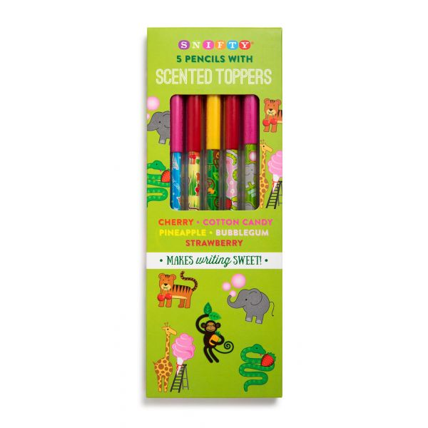 Scented Pencil Toppers with Zoo Themed Pencils (5 Pack)-0